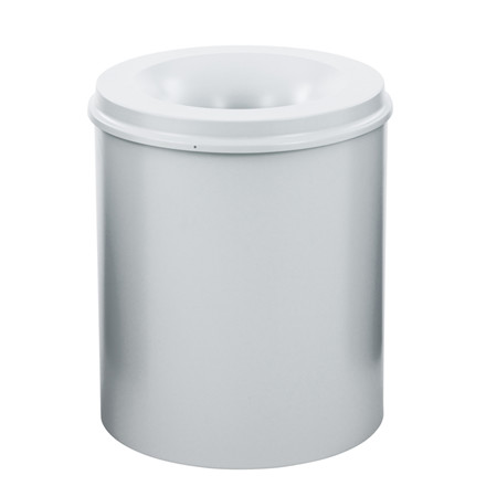 Affaldsspand, selvslukkende, grå, 80 l