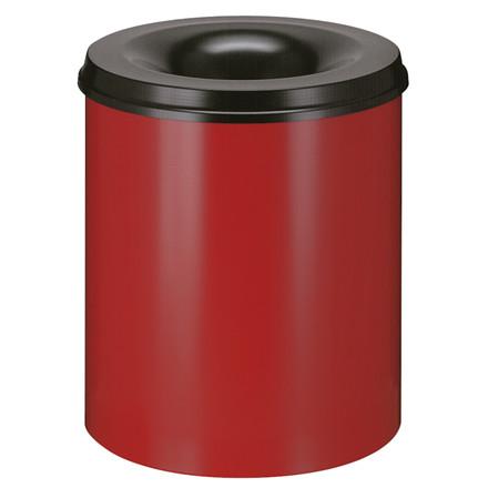 Affaldsspand, selvslukkende, rød og sort, 80 l