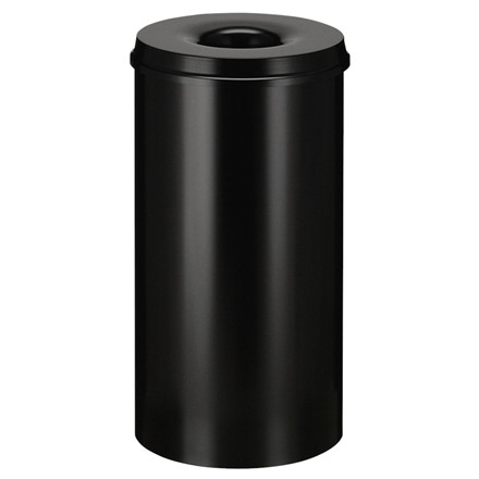 Affaldsspand, selvslukkende, sort, 50 l