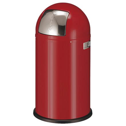 Affaldsspand, Wesco, med metal inderspand, brandsikker, rød, 50 l