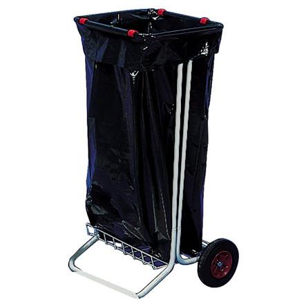 Affaldsstativ galvaniseret stål på 2 hjul - eksklusiv låg