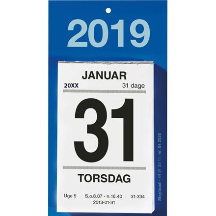 Afrivningskalender 2019 Mayland med bagsidetekst 6 x 10 cm - 19252000