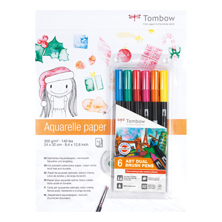 Akvarelblok+ABT-6P3 Tombow Promotion 2018