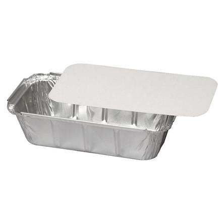 Alu-kartonlåg, hvid/sølv, til varenr. 5678, Karton m/Alu-belægning