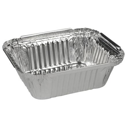 Aluminiumsbakke, m/vinkelkant, aluminium, 435 ml