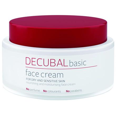 Ansigtscreme, Decubal Face, uden farve og parfume, 75 ml