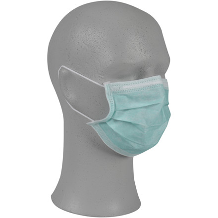 Ansigtsmaske, Abena Classic, grøn, PP/PE/spandex, ultrasonic, usteril, engangs