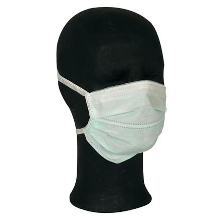 UDSOLGT - Ansigtsmaske, Barrier, med bindebånd, Type II, grøn,