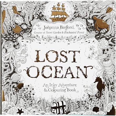 Antistress malebog, str. 25x25 cm, 80 sider, Lost Ocean, 1stk.