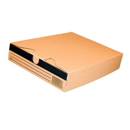 Arkivæske pap 24,5 x 32 x 6 cm - brun
