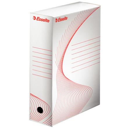 Arkivæske Esselte Vivida BOXY 24,5 x 34,5 x 10 cm - Hvid med skrivefelter
