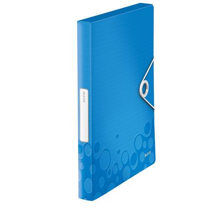 Leitz WOW arkivæske A4 med elastik og 30 mm ryg blå | 46290036