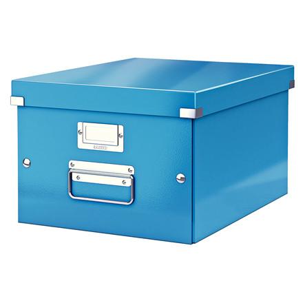 Opbevaringsboks Leitz Click & Store 28 x 20 x 37 cm - Blå