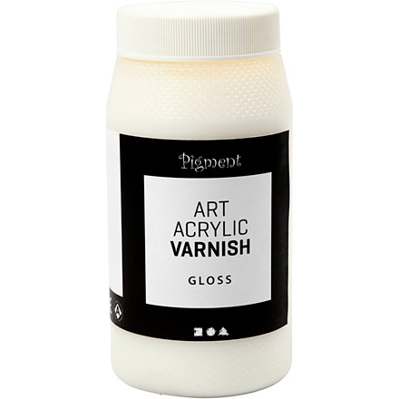 Art Acrylic slutfernis, blank transparent, hvid, blank, 500ml