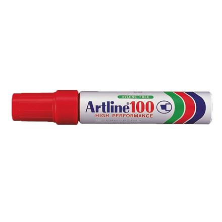 Artline 100 Jumbo Marker - Permanent rød 7-12 mm firkantet spids