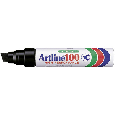 Artline 100 Jumbo Marker - Permanent sort 7-12 mm firkantet spids