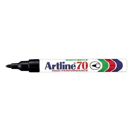 Artline 70 Sprittusch - Rund sort 1,5 mm spids