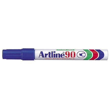 Artline 90 Marker - Permanent blå 2-5 mm firkantet spids