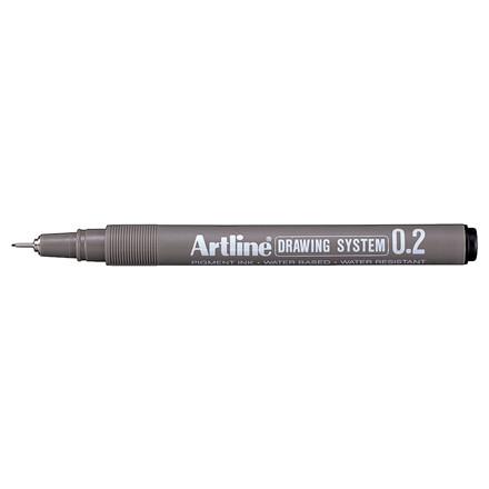 Artline EK232 Drawingpen -  Sort farve med 0,2 mm stregbredde