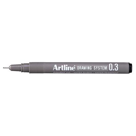 Artline EK233 Drawingpen - Sort farve med 0,3 mm stregbredde