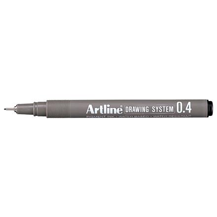 Artline EK234 Drawingpen - Sort farve med 0,4 mm stregbredde
