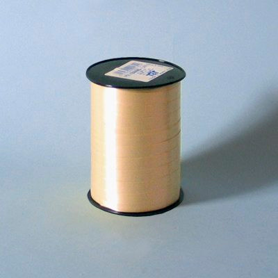 Bånd - i glat beige 10 mm x 250 meter 5 ruller i en pakke