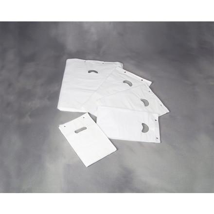 Bærepose i hvid 18 my blok - P4 HDPE 245 x 410 mm 2000 stk