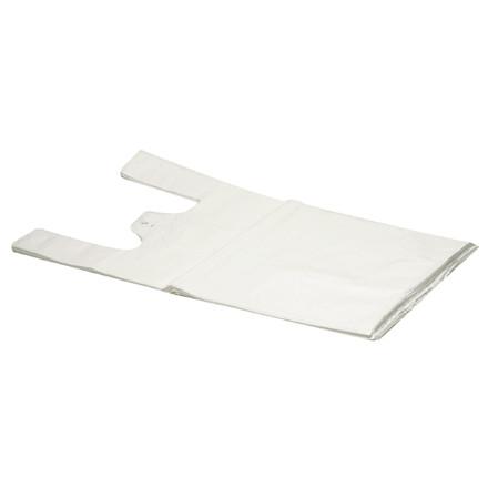 Bærepose i hvid HDPE undertrøje 14 my - 280 x 70 x 500 mm 1000 stk