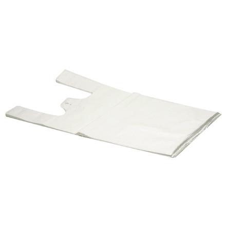 Bærepose i LDPE undertrøje i hvid - 35 my 270 x 75 x 550 mm 500 stk