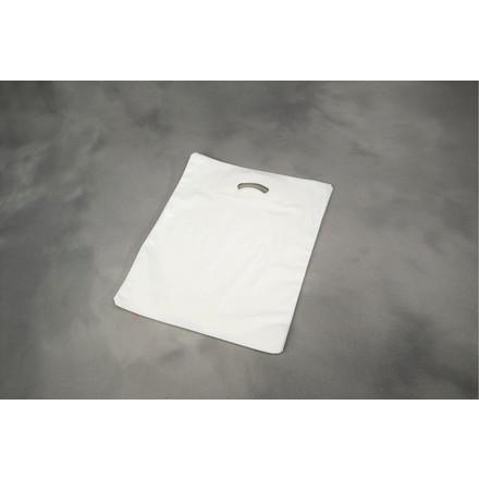 Plast bærepose i hvid 28 my - COEX 420 x 450 x 50 mm 500 stk