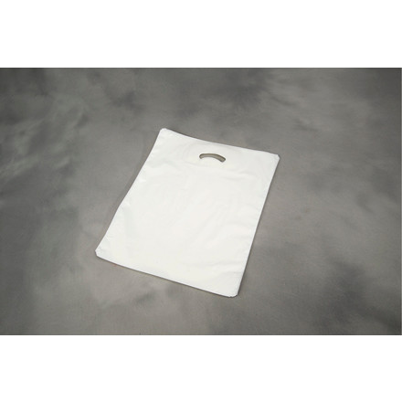 Bærepose i hvid plast COEX - 28 my 500 x 500 x 50 mm