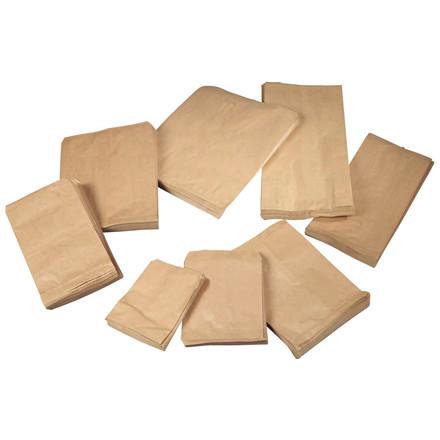 Brune papirsposer 1/2 kg 170 x 215 mm 40 gram - 1000 stk