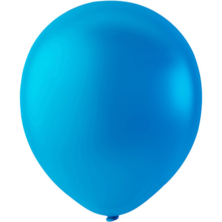 Balloner, diam. 23 cm, lys blå, runde, 10stk.