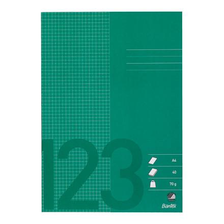 Bantex kladdehæfte A4 - Græs grøn ternet med  5 x 5 mm tern - 40 sider