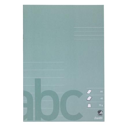 Bantex Skolehæfte A4 - Støv grøn Linjeret med 8 linjer - 40 sider