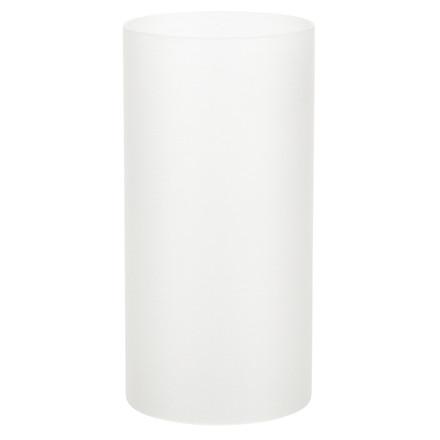 Basic stage, til basic bunde, Hvid, frosted, Ø7 cm, H14 cm *Denne vare tages ikke retur*