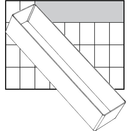 Basisindsats, str. 235x55 mm, Model A8-3, 1 stk.