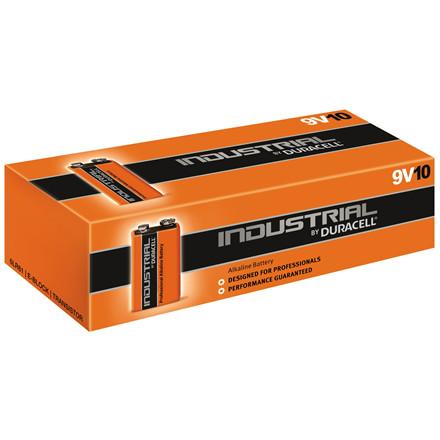 Batteri 9V Industrial Duracell - 10 stk i pakken