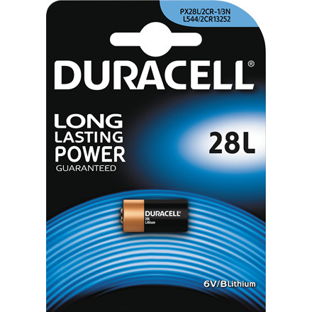 Batteri Duracell Photo 28L 6V Lithium 1stk/pak