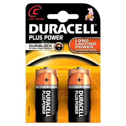 Duracell Batteri Plus Power C - 2 stk i en pakke