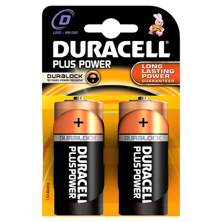 Batteri Duracell D Plus Power - LR20  MN1300