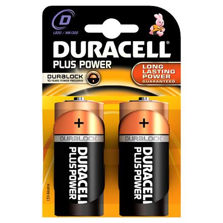Batteri Duracell D Plus Power - LR20  MN1300