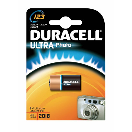 Batteri Duracell Ultra Photo 123 1stk/pak