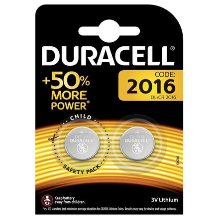 Batteri litium DuracellElectronics2016 knapcelle  3V 2-pak
