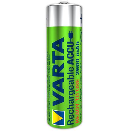 Batteri Varta genopladelig AA - 1,2V HR6 R2U 2600 mAh 4 stk i en pak