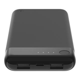 Belkin BOOST CHARGE Power Bank 10K w/Lightning + USB, Black