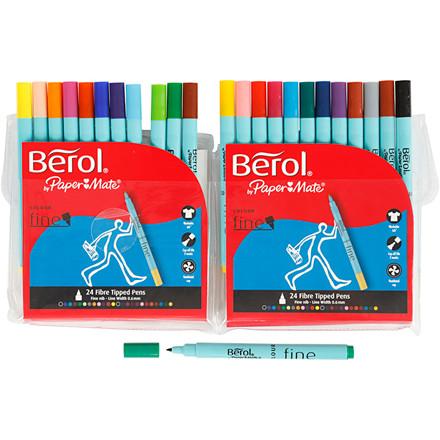 Berol Colourfine, stregtykkelse: 0,6 mm, dia. 10 mm, 24stk.