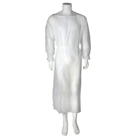 Beskyttelseskittel, Abena, med elastik, usteril, hvid,