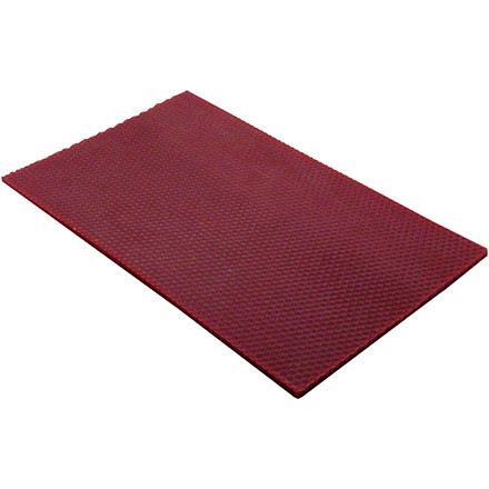 Bivoksplade 20 x 33 cm tykkelse 2 mm   Vinrød