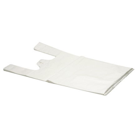 Blokbærepose, HDPE, hvid, 15 my, 46x54 cm, 20L,